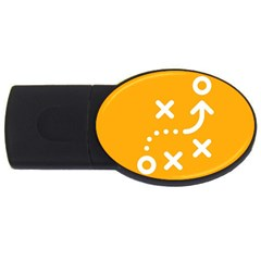 Sign Yellow Strategic Simplicity Round Times Usb Flash Drive Oval (4 Gb)