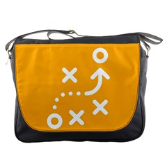 Sign Yellow Strategic Simplicity Round Times Messenger Bags