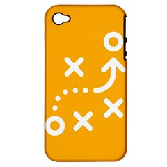 Sign Yellow Strategic Simplicity Round Times Apple Iphone 4/4s Hardshell Case (pc+silicone)