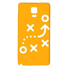 Sign Yellow Strategic Simplicity Round Times Galaxy Note 4 Back Case