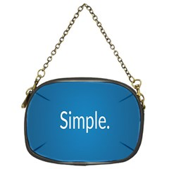 Simple Feature Blue Chain Purses (one Side)