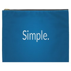 Simple Feature Blue Cosmetic Bag (xxxl)