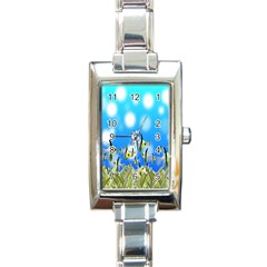 Pisces Underwater World Fairy Tale Rectangle Italian Charm Watch by Nexatart