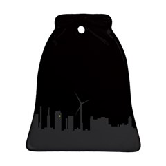 Windmild City Building Grey Ornament (bell)