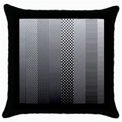 Semi Authentic Screen Tone Gradient Pack Throw Pillow Case (black) by Jojostore