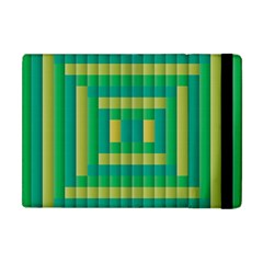Pattern Grid Squares Texture Apple Ipad Mini Flip Case by Nexatart