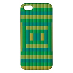 Pattern Grid Squares Texture Apple Iphone 5 Premium Hardshell Case by Nexatart