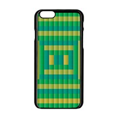 Pattern Grid Squares Texture Apple Iphone 6/6s Black Enamel Case