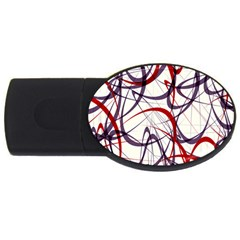 Purple Red Usb Flash Drive Oval (2 Gb) by Jojostore