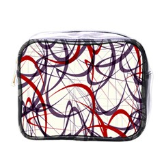 Purple Red Mini Toiletries Bags