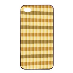 Pattern Grid Squares Texture Apple Iphone 4/4s Seamless Case (black) by Nexatart
