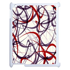 Purple Red Apple Ipad 2 Case (white)