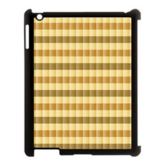 Pattern Grid Squares Texture Apple Ipad 3/4 Case (black)