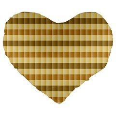 Pattern Grid Squares Texture Large 19  Premium Heart Shape Cushions by Nexatart