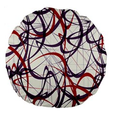 Purple Red Large 18  Premium Flano Round Cushions