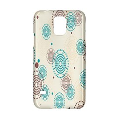 Small Circle Blue Brown Samsung Galaxy S5 Hardshell Case  by Jojostore