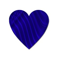 Sparkly Design Blue Wave Abstract Heart Magnet by Jojostore