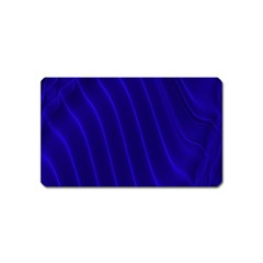 Sparkly Design Blue Wave Abstract Magnet (name Card) by Jojostore