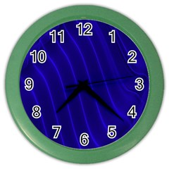 Sparkly Design Blue Wave Abstract Color Wall Clocks by Jojostore