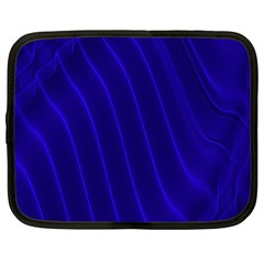 Sparkly Design Blue Wave Abstract Netbook Case (large) by Jojostore