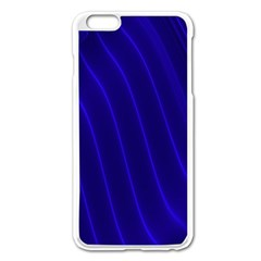 Sparkly Design Blue Wave Abstract Apple Iphone 6 Plus/6s Plus Enamel White Case by Jojostore