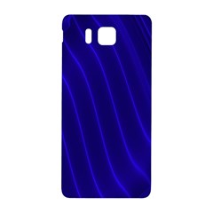 Sparkly Design Blue Wave Abstract Samsung Galaxy Alpha Hardshell Back Case