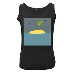 Summer Sea Beach Women s Black Tank Top by Jojostore