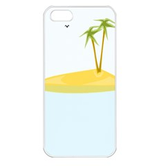 Summer Sea Beach Apple Iphone 5 Seamless Case (white) by Jojostore