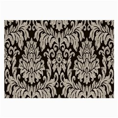 Wild Textures Damask Wall Cover Large Glasses Cloth (2 Side) by Jojostore