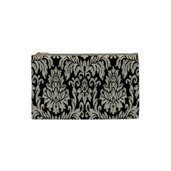 Wild Textures Damask Wall Cover Cosmetic Bag (small)