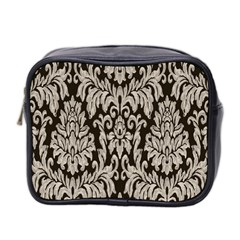 Wild Textures Damask Wall Cover Mini Toiletries Bag 2 Side by Jojostore
