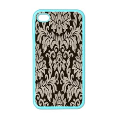Wild Textures Damask Wall Cover Apple Iphone 4 Case (color)