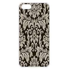 Wild Textures Damask Wall Cover Apple Iphone 5 Seamless Case (white) by Jojostore