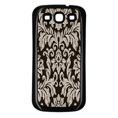 Wild Textures Damask Wall Cover Samsung Galaxy S3 Back Case (black)