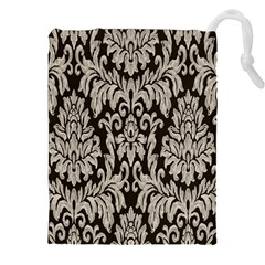 Wild Textures Damask Wall Cover Drawstring Pouches (xxl) by Jojostore