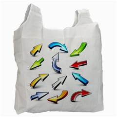 Three Dimensional Crystal Arrow Recycle Bag (one Side)
