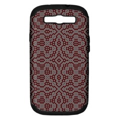 Simple Indian Design Wallpaper Batik Samsung Galaxy S Iii Hardshell Case (pc+silicone) by Jojostore