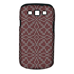 Simple Indian Design Wallpaper Batik Samsung Galaxy S Iii Classic Hardshell Case (pc+silicone)