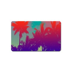 Tropical Coconut Tree Magnet (name Card) by Jojostore