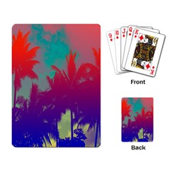 Tropical Coconut Tree Playing Card