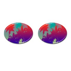 Tropical Coconut Tree Cufflinks (oval) by Jojostore