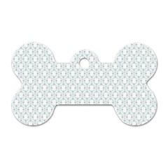 Web Grey Flower Pattern Dog Tag Bone (one Side) by Jojostore