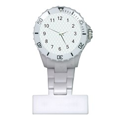 Web Grey Flower Pattern Plastic Nurses Watch by Jojostore