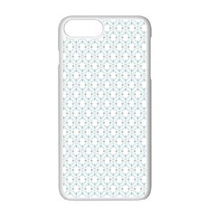 Web Grey Flower Pattern Apple Iphone 7 Plus White Seamless Case by Jojostore