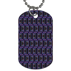 Psychedelic 70 S 1970 S Abstract Dog Tag (two Sides) by Nexatart