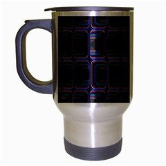 Psychedelic 70 S 1970 S Abstract Travel Mug (silver Gray) by Nexatart