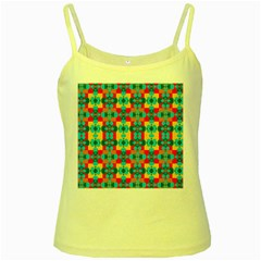 Pop Art Abstract Design Pattern Yellow Spaghetti Tank