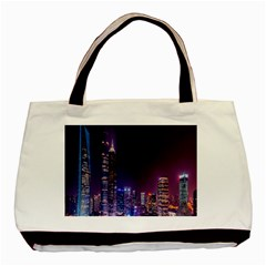 Raised Building Frame Basic Tote Bag (two Sides)