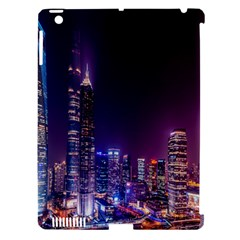 Raised Building Frame Apple Ipad 3/4 Hardshell Case (compatible With Smart Cover)