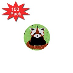 Red Panda Bamboo Firefox Animal 1  Mini Buttons (100 Pack)